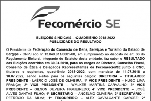 Edital Eleições - FECOMERCIO 2018 04.05.18