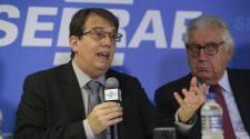 Diretor de Áreas de Operações do BNDES, Ricardo Ramos,e o presidente do Sebrae, Afif Domingos_foto José Cruz Agência Brasil