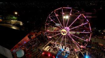 Uber monta roda gigante em festa junina