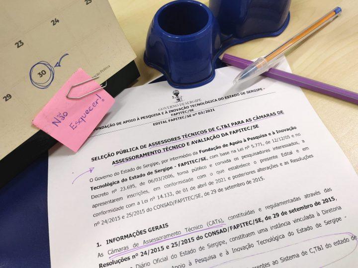 Fapitec divulga lista de pré-candidatos e abre votação para Câmaras de Assessoramento